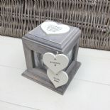 Shabby Chic PERSONALISED Rustic Wood In Memory Of WIFE Or ANY NAME Photo Cube - 253968349047